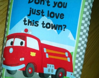 Don't  You Just Love This Town Cloth book: Item   BK150058