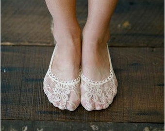 Lace Socks, Black, White or Tan