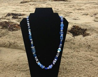 Lovely blue necklace, Boho Chic