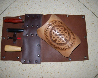 archery arm guard hand carved - ask about colour variations