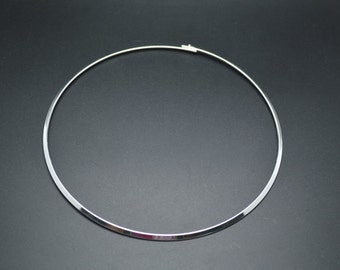 10pc Silver or Gold Plating Color Round Metal Circle Choker Necklace Hoop Jewelry findings used for Pendant Necklace