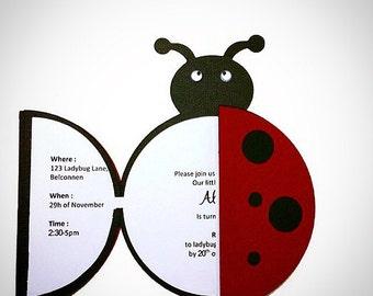 Ladybug Invitation - ladybug party - ladybug birthday - ladybug birthday party - ladybug party invitation - ladybug birthday invitation