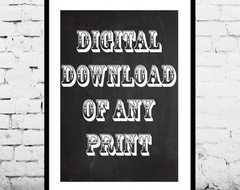 Digital Download of any Patent Print in My Shop, Instant Download, Print this at home or at a local print shop