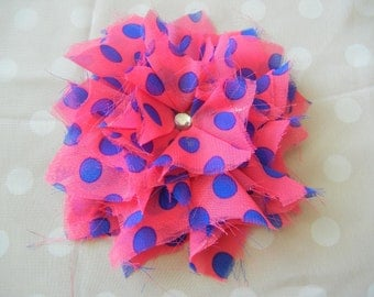 Hot pink and Blue Starburst Flower