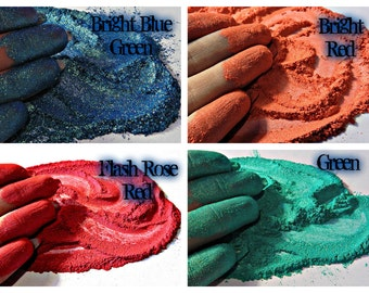 Pearlescent Mineral Mica Powder Pigments For Soaps, Nails, Candles, Cosmetics, Crafts Etc