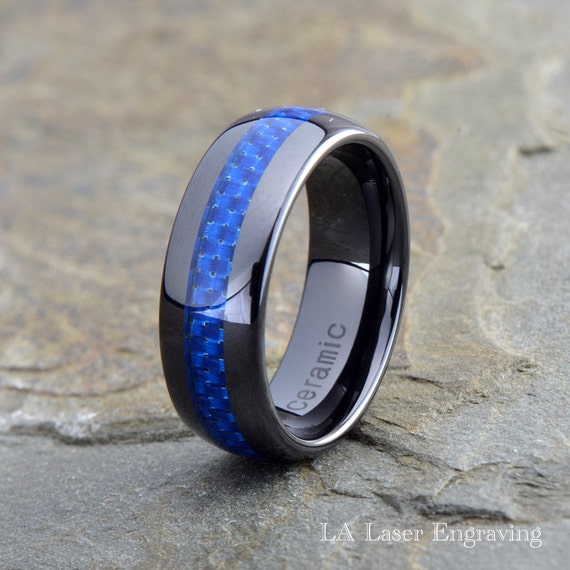 Ceramic Wedding Band Mens Ring Mens Wedding Bands Custom