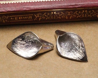 2pcs antique silver calla lily findings charm,metal charms,craft supplies, 8*15*26mm