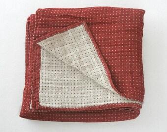 Red linen blanket, queen size linen blanket, king size linen blanket, queen bed throw, king bed throw, queen linen blanket, king blanket