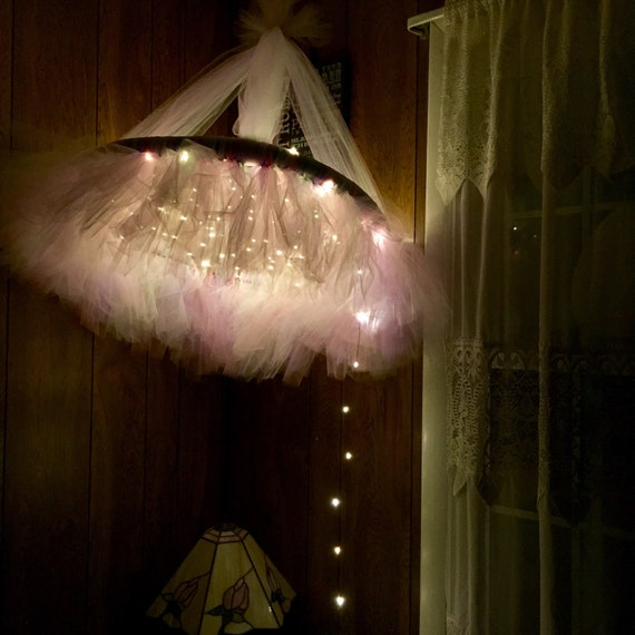 Items Similar To Tulle Chandelier With Fairy Lights