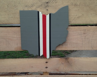 Ohio State cut out, wall hanging sign