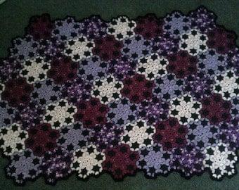 Throw Rug Hand Crochet Patchwork