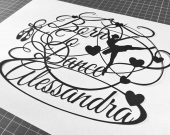 Born To Dance - Personalised Paper Cutting Template - Personal And Commercial Use