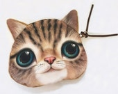 """OUT is inUSA """"Puss Pouch"""" ift Bag,Plush Pussy Cat Pouch Cat purse, Cat wallet pouch, Kitty pouch,lingerie pouch, Lesbian Purse free shipping"""