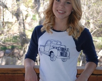 Vintage Truck Raglan