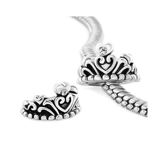 Crown Charm Bracelet: Princess Crown Charm Fit Pandora Bracelet