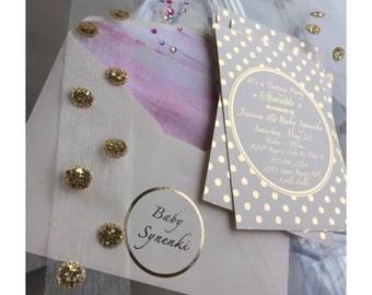 Rose Gold Foil // POLKA DOT // Wedding, Save The Date, Bridal Shower / Hens Day, Engagement, Birthday Invitation, Baby Shower