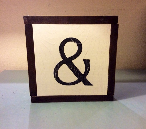 Happiness Is Homemade Handpainted Sign Handmade 12x12 Wall: Ampersand & Framed Wooden Sign By RusticBranches On Etsy