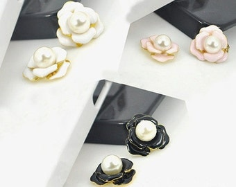 1pcs Bling Pearls Flower Crystals Dazzle Crystals Gems Flatback Cabochon Decoden Accessories/DIY Cell Phone Case Deco Den Materials Supplies