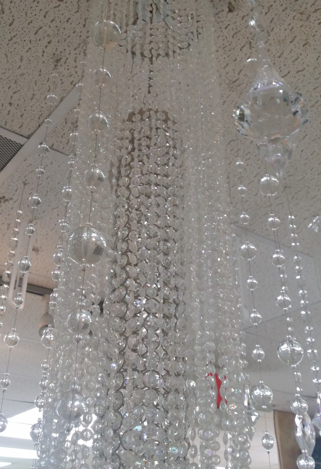 Wedding crystal ceiling decoration hanging by for Ceiling decoration items