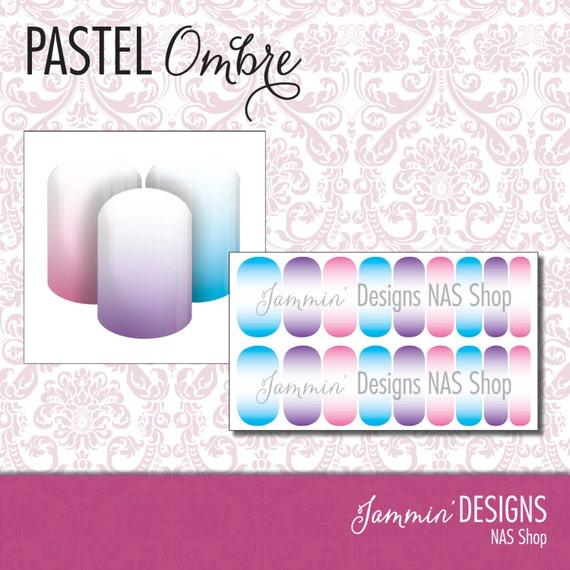 Pastel Ombre NAS (Nail Art Studio) Design