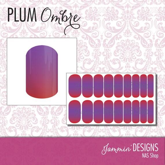 Plum Ombre NAS (Nail Art Studio) Design