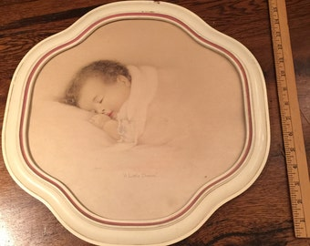 Baby Picture And Frame Vintage