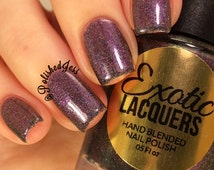 NEBULOUS - Multi-Chrome Flakie Holographic Color Shifting Nail Polish Purple/Pink./Gold LIMITED EDITION