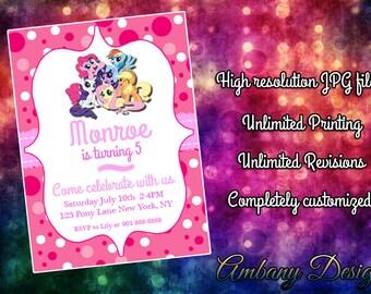 My Little Pony Birthday Party Invitations, My Little Pony Printable Invitations, My Little Pony Birthday Invitations