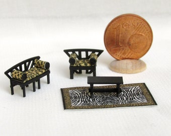 Furniture Sets for living room , Africa style  1/144 scale, handmade