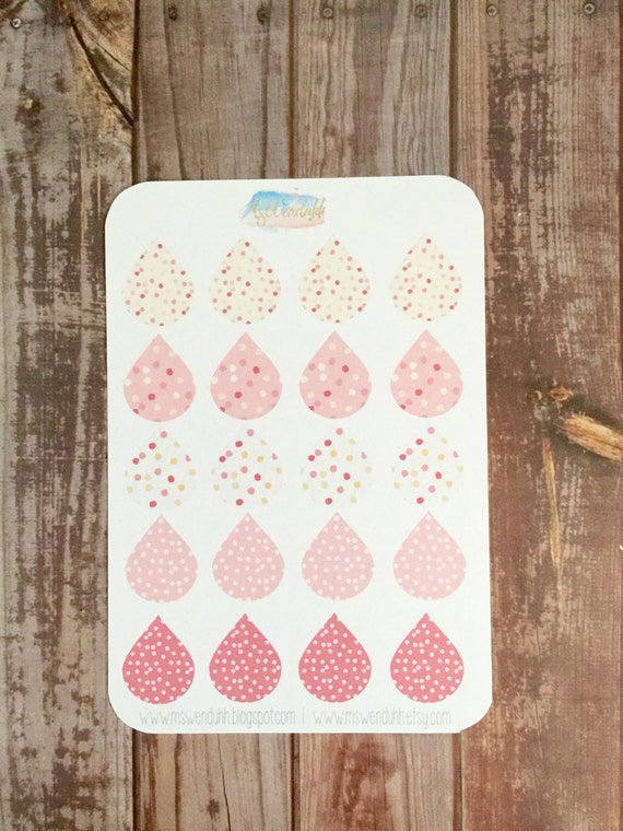 Item #0120 20 Large Confetti Tear Drop Stickers (Perfect for Erin ...