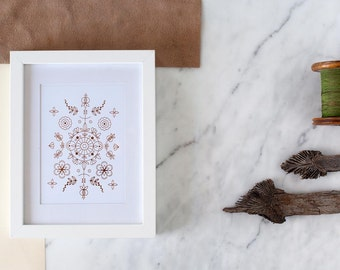 Letterpress Rose Gold Print , Art Print , Boho Chic Print , Home Decor , Gold foil Art Print, Copper Foil Poster