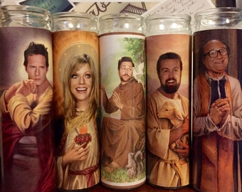 Its Always Sunny in Philadelphia Dennis D Charlie Mac Frank Prayer Candles