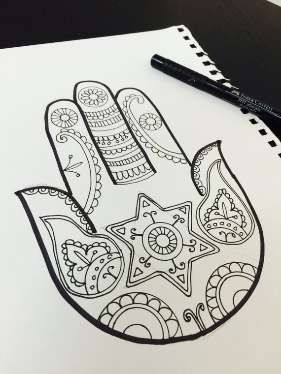 hamsa coloring pages - photo#21