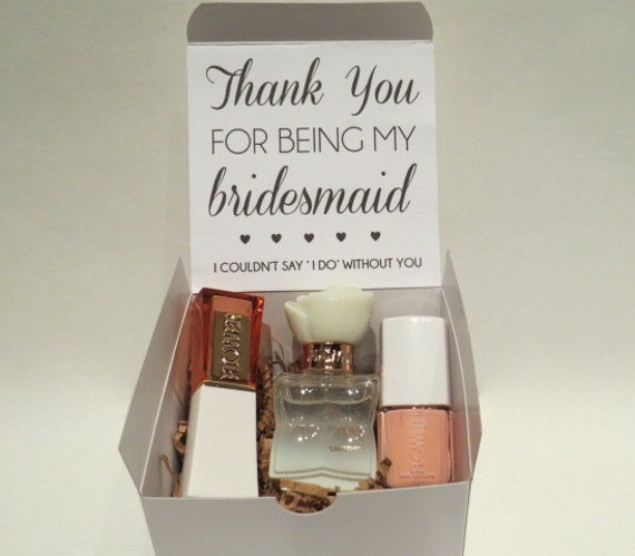 Wedding Thank You Gift Box : Bridesmaid Beauty Box Thank You Gift Bridal Party Maid of Honor Matron ...