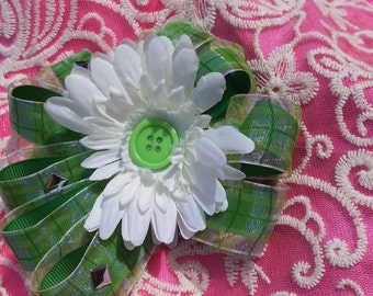 Girls Hair barrette - Flora Minty Picnic