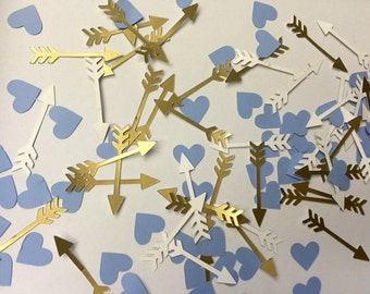 Hearts and Arrows Confetti - 200 pieces in your choice of colors