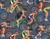 Timeless Treasures Cyclist Woven Cotton Fabric - 1 yard