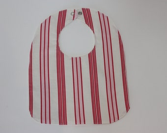 SALE | Girl's bib | Pink Stripes | Baby Gift | Newborn Gift | Regular Bib | Shower Gift | Made in Australia