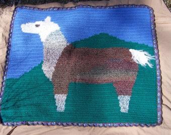 Llama Crochet Pattern, Llama Blanket Pattern