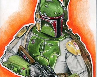 Star Wars Comic #1 Boba Fett Sketch Cover Variant