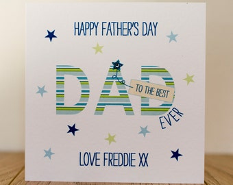 Handmade Personalised Fathers Day Card