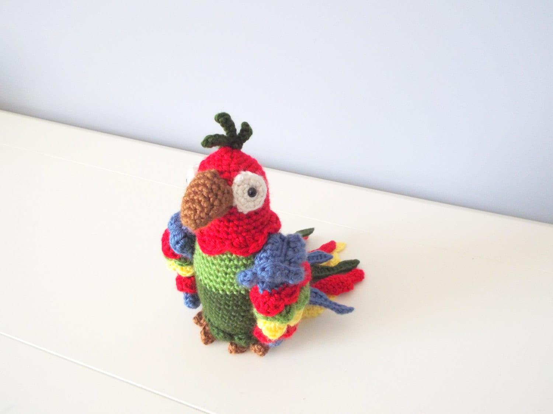 Handmade Crochet Parrot doll toy Amigurumi Gift ideas Home ...