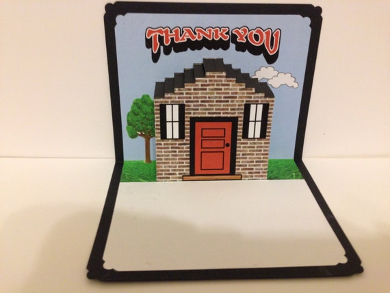 Thank You House: Thank You Pop Up Card With House