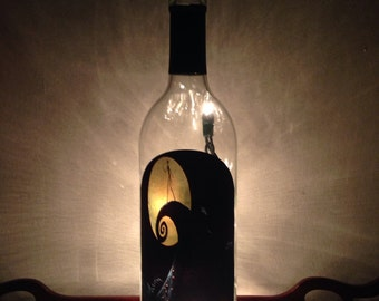 Nightmare Before Christmas Wine Bottle Lamp