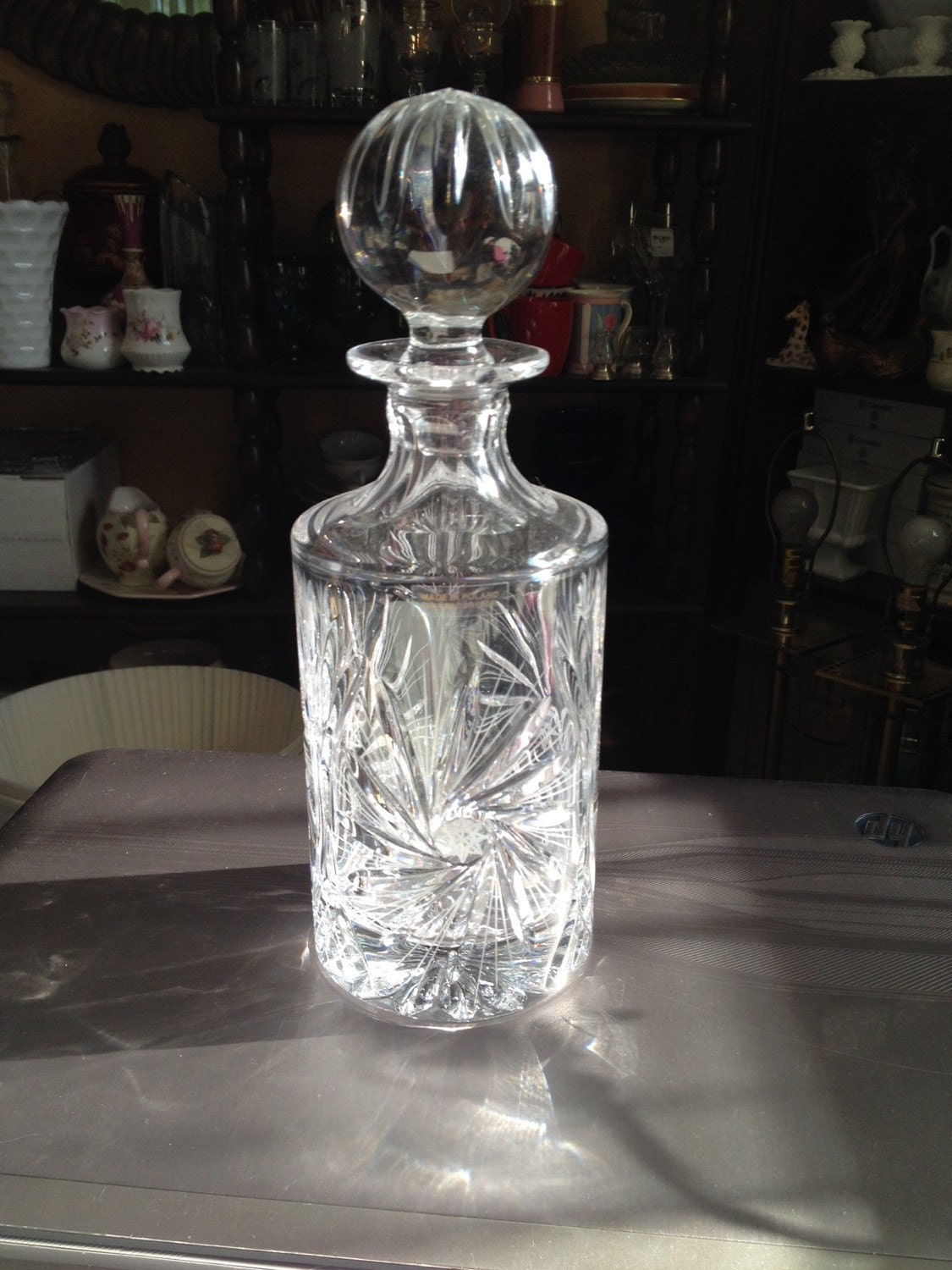 Irena 24% Lead Crystal Wind Decanter Made in Poland