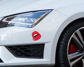 Car sticker Lips, Vinyl car sticker, Car window sticker, Car decoration, Car accessories