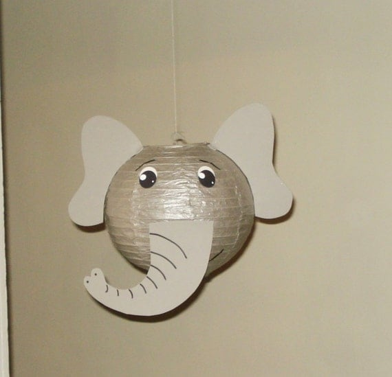 Gray Elephant Paper Lantern Safari Party By Nicedecorations