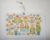 "Perpetual Wall Calendar 5.8 x 8.3"" / 14.8 x 21 cm A5 Scandinavian Florals Undated Planner Birthday Anniversary Paper Illustration Kids Kids"