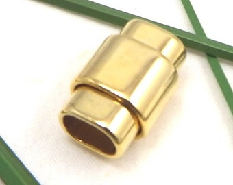 Golden snaped magnectic clasp for regaliz leather