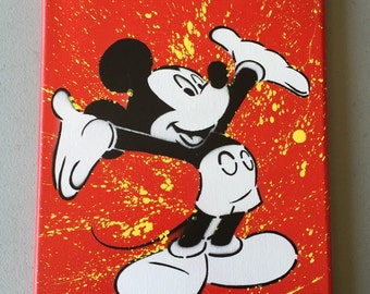 Mickey Mouse 8x10 canvas